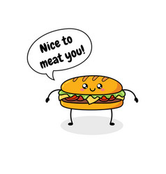 fast food cartoon doodle vector image