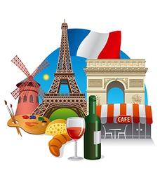 france landmarks vector image