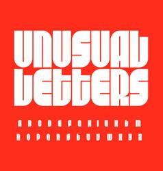 futurism letters set bauhaus font unusual high vector image