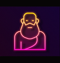 Glowing neon line socrates icon isolated on black vector
