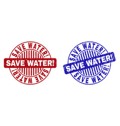 grunge save water exclamation scratched round vector image