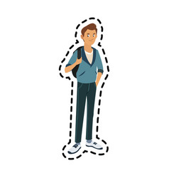 Handsome young man icon image vector