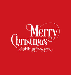 happy christmas lettering calligraphy text art vector image