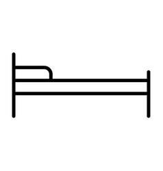 hotel bed line icon simple minimal pictogram vector image
