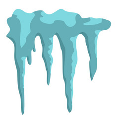 Icicles icon isolated vector