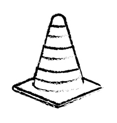 Isolated construction cone vector