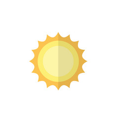 Isolated solar flat icon sunshine element vector