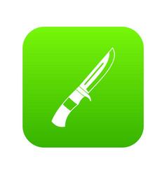 knife icon digital green vector image