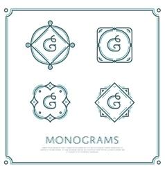 Letter G Monogram vector
