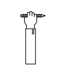 Line hand with pencil tool design vector