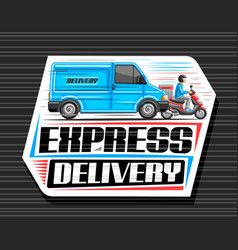 logo for express delivery vector image