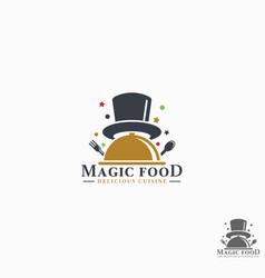magic food logo template vector image