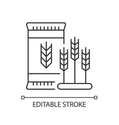 Malted barley pixel perfect linear icon vector