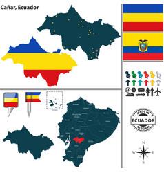Map of canar ecuador vector