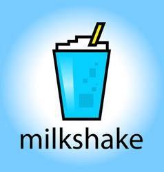 milkshake drink beverage smoothie cartoon color vector image