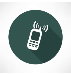 Mobile phone calling icon vector