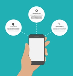 Modern design creative infographic with mobile vector image