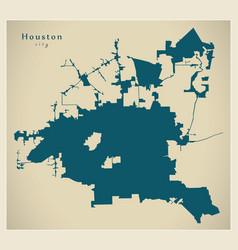 Modern map - houston city usa vector