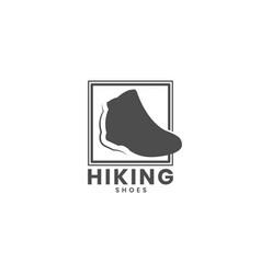 mountain shoes logo design vector image