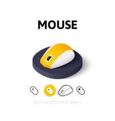 Mouse icon in different style vector image