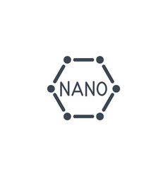 Nanotechnology related glyph icon vector