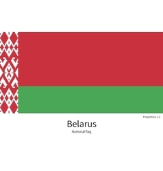 National flag of Belarus with correct proportions vector image