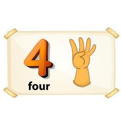 Number 4 vector