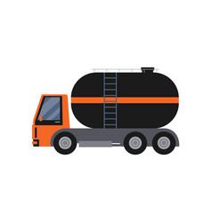 oil industry tanker truck isolated on white vector image