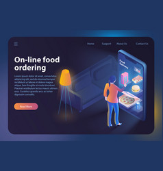 On-line food ordering vector