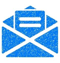 Open Mail Grainy Texture Icon vector