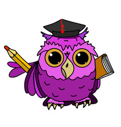 owl with a book vector image