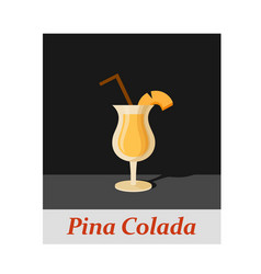 pina colada cocktail menu item or any kind of vector image