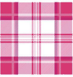 pink tartan plaid seamless pattern vector image
