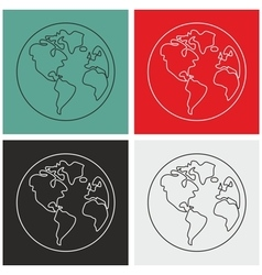 Planet Earth sign set isolated vector image