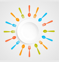 Plate on a white background vector