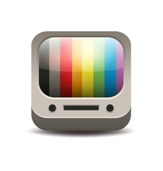 Rainbow colored tv set vector image