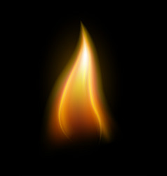 Realistic candle flame element vector