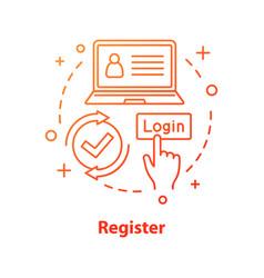Registration concept icon vector