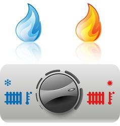 regulator boiler icon vector image