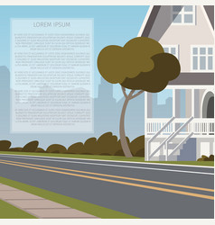 road along the inhabited city vector image