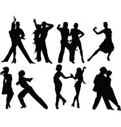 Salsa silhouettes vector