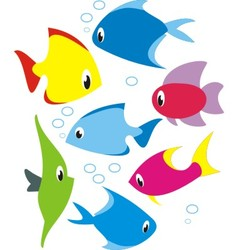 set of reef fish vector image vector image