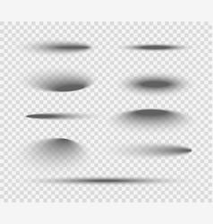 Shadow ball circle round bottom floor vector