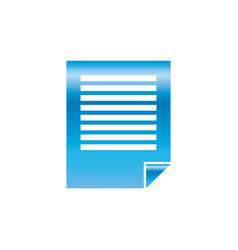 Sheet paper note vector