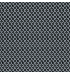 Silver metallic grid background pattern vector image