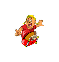 Skater cartoon vector