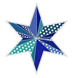 Star shape made of triangles Isolated vector image