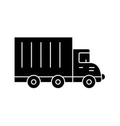 truck car black icon concept truck car vector image