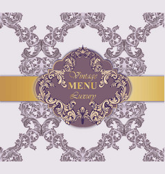 vintage menu card rich vector image