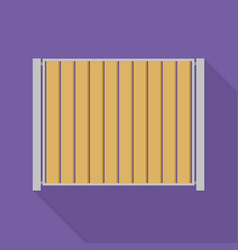 wall fence icon flat style vector image